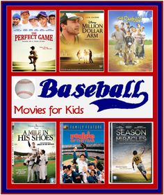 Baseball Movies for Kids. From funny to heartwarming, all of these baseball movies for kids are sure to please your little slugger! Travel Baseball, Baseball Tips, Baseball Crafts, Baseball Quotes, Sports Baseball, Baseball Mom, Baseball Stuff, Baseball Party, Baseball Girlfriend