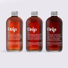 The BEST Canadian organic maple syrup out there! And the bottles are gorgeous. Drip Maple available in Blonde, Copper, and Amber