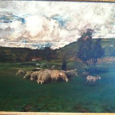 Painting at Crystal Bridges! I like the clouds in this one too!