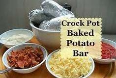 When the Dinner Bell Rings: Crock Pot Baked Potato Bar