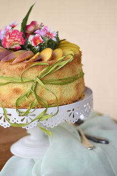 Chiffon cake alle pesche gialle