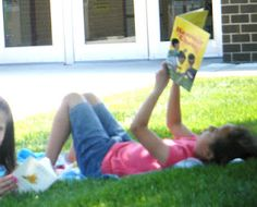 Reading outside with your class. Includes parent letter.