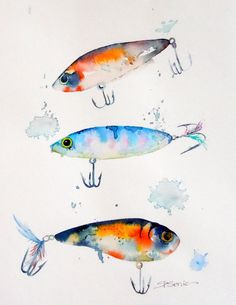 Fishing Lures Print Boy's Room Guy's Room by LimezinniasDesign, $30.00 outside size is 9x12