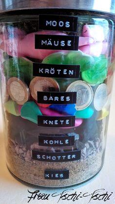 Frau Tschi-Tschi: Geldgeschenk - Geschenk im Glas
