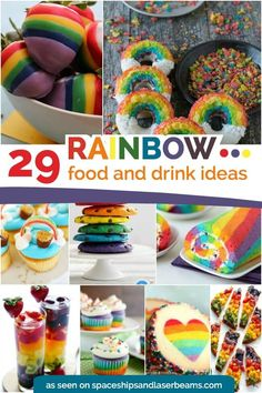 29 Colorful Rainbow Food and Drink Ideas, Unicorn Party, Kids Party, Rainbow Baby Baby Shower Pizza Birthday Cake, Rainbow Birthday Party, Rainbow Parties, 7th Birthday, Rainbow Treats, Rainbow Food, Rainbow Drinks, Rainbow Cakes, Rainbow Baby