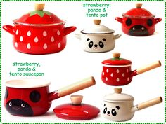Super cute pots and pans - strawberry pans and ladybird - one of each please
