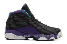 "quality design 1a6f1 3f775 Girls Air Jordan 13 Retro ""Grape"" Black Atomic Teal-Ultraviolet For Sale  2016 New, Price   88.00 - Big Kids Jordan Shoes - Kids Jordan Shoes - Cheap  Jordan ..."