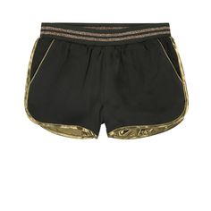 LITTLE MARC JACOBS Viscose poplin Viscose lining Sportswear look Short cut Straight cut at the leg top Elastic waistband Golden effect Small logo patch on the heels Winter Date Outfits, Look Short, Little Marc Jacobs, Pbteen, Kids Shorts, Short Cuts, Straight Cut, Sportswear, Kids Fashion