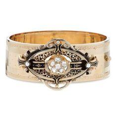 Estate Victorian Diamond Bangle