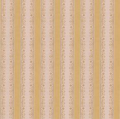 Vintage Wallpaper Stripes Brown | 1950s Vintage Antique Wallpaper