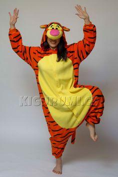 You'll never stop bouncing in this official Disney's Tigger kigurumi onesie. Disney Onesies, Cute Onesies, Adult Onesie Pajamas, Pajamas For Teens, Satin Pyjama Set, Pajama Set, Lazy Day Outfits, Cute Outfits, Cozy Pajamas