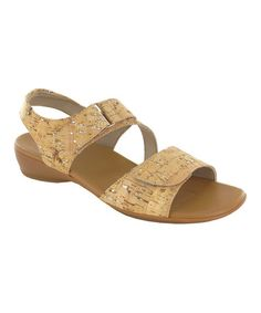 Look what I found on #zulily! Cork Brenna Sandal by Munro Shoes #zulilyfinds