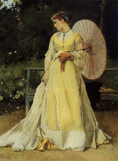 Alfred Stevens was one of Belgium's leading artists who specialized in paintings of fashionable young women in elegant interiors. As a young boy, Alfred Stevens - was surrounded by art: his father was Alfred Stevens, Image Nature Fleurs, Image Chat, Images Vintage, 24. August, Victorian Art, Victorian Ladies, Woman Painting, Painting People