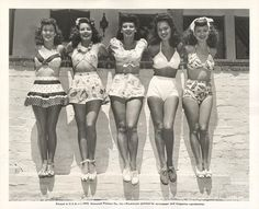 #VintageSwimMonday 1950s swimwear | Tumblr lots of great photos from the 50's!
