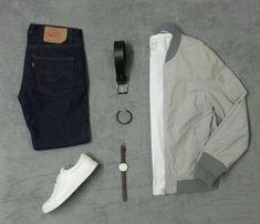 Jeans levi's, bomber Clockhouse, t-shirt SW states , sneakers Jack Jones