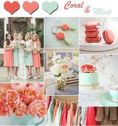 2014 Wedding Color Trends-Coral Wedding Ideas and Invitations -InvitesWeddings.com