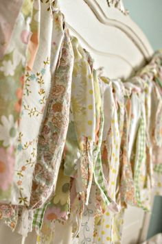 fabric strip - ribbon garland