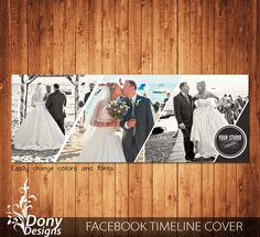 Wedding Facebook timeline cover template photo collage - Photoshop Template Instant Download - BUY 1 GET 1 FREE: fc357 by DonyDesigns on Etsy