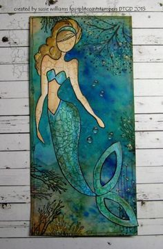 I could talk underwater.if I had a mouth! by susie australia - Cards and Paper Crafts at Splitcoaststampers Prima Paper Dolls, Prima Doll Stamps, Real Mermaids, Mermaids And Mermen, Fantasy Mermaids, Mermaid Art, Mermaid Paintings, Tattoo Mermaid, Mermaid Drawings