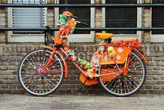 Bicycle Decor, Bicycle Rack, Bike Decorations, Bike Parade, Burning Man Art, Tricycle Bike, Burning Man Fashion, Royal Colors, Yarn Bombing