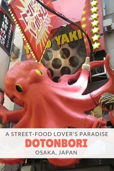 Discover the street food paradise that is Dotonbori in Osaka, Japan, where…
