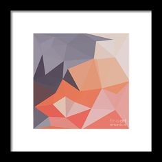 Atomic Tangerine Orange Abstract Low Polygon Background Framed Print by Aloysius Patrimonio.  All framed prints are professionally printed, framed, assembled, and shipped within 3 - 4 business days and delivered ready-to-hang on your wall. Choose from multiple print sizes and hundreds of frame and mat options.