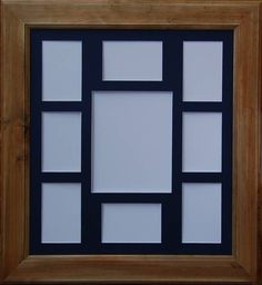 timber photo frame number of photo cutouts 9 1 8x10 and 8 6x4