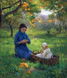 Virginie Demont-Breton - Under the Orange Tree