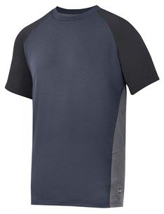 Protect yourseld when the sun is shining with this UV-protection T-shirt. The fabric will also keep you cool and fresh thanks to a special anti-odour treatment. - Snickers Workwear Artnr. 2509