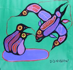 28 x 29 Metamorphisis Thunderbird Fish Guiding 1977 Native Canadian, Canadian Artists, Woodlands School, Showing Respect, Group Of Seven, Create Words, Indigenous Art, Flat Color, Native Art