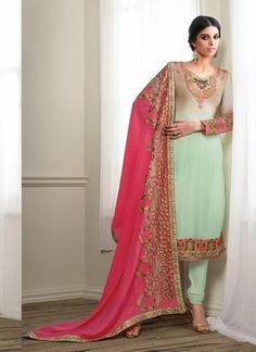 Green Georgette Salwar Kameez ,Indian Dresses
