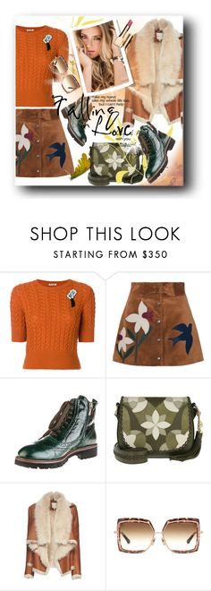 """Untitled #934"" by pesanjsp ❤ liked on Polyvore featuring Miu Miu, RED Valentino, Fiorangelo, Michael Kors, Mason by Michelle Mason, Dita and Clarins"