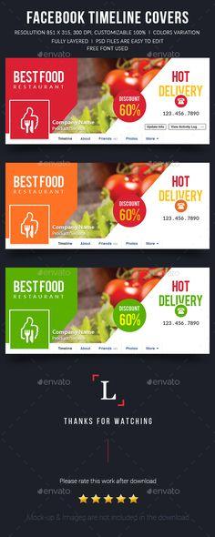 Best Food Facebook Timeline Covers Template PSD #design Download: http://graphicriver.net/item/best-food-facebook-timeline-covers/13309472?ref=ksioks