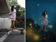 Photoshop Genius Takes Normal Photos In Her Backyard And Turns Them Into Magical Scenes - UltraLinx Portrait Photography Tips, Concept Photography, Surrealism Photography, Fantasy Photography, Photography Poses Women, Creative Photography, Cool Photoshop, Photoshop Tips, Photoshop Design
