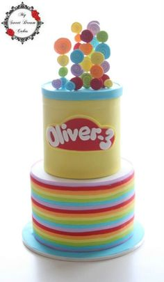 Playdoh Cake - For all your cake decorating supplies, please visit craftcompany.co.uk