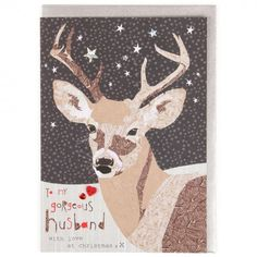 Gorgeous husband stag Christmas card