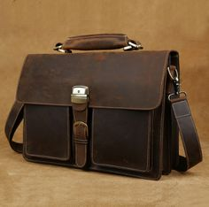 Image of Hand Stitched Leather Messenger Bag(C124)