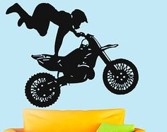 Wall Vinyl Decal Sticker Motocross Sport  Art Design Boy Room Nice Picture Decor Hall Wall Chu1228