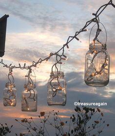 Mason Jar Party Lights 6 DIY Lantern Hangers for by treasureagain