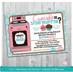 Cupcake or Stud Muffin Gender Reveal Party by thepartystork