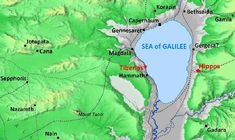 """Map of Galilee in Jesus' day, showing location of """"traditional"""" site of Cana Bible Mapping, Sea Of Galilee, Roman City, Israel Palestine, Water Into Wine, Bible Study Tools, Marriage Vows, Bible Words, Viajes"""