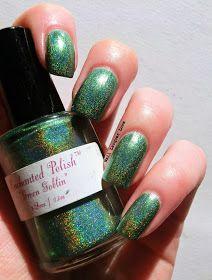 "Enchanted Polish ""Green Goblin"" Round"