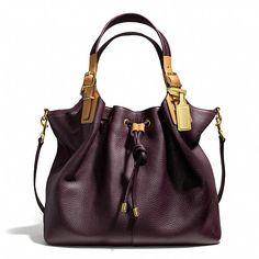 Coach Drawstring Shoulder Bag In Pebbled Leather