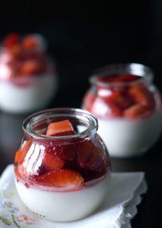 <3 strawberry panacotta ... one of my favorites