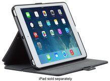 Speck - StyleFolio Case for Apple® iPad® mini, iPad mini 2 and iPad mini 3 - Black/Slate Gray