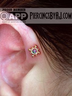 Cute forward helix piercing and earring
