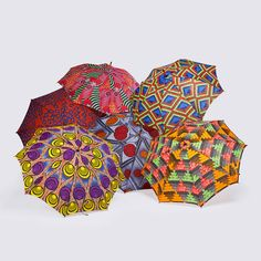 I just want to walk in the rain with these // Babatunde African print umbrellas