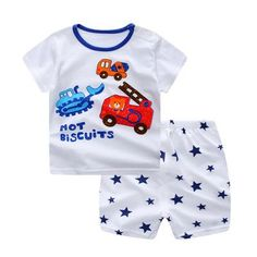 76916131b1f Spring Summer Infant Boys Casual Clothing Set with Animal Printed  Shortsleeve T Shirt and Pattern Shorts (2pcs) 6M-3T
