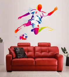 Kik2334 Wall Decal Sticker Basketball Jump Man Living Bedroom Sports Shop | Wall  Decals Sport | Pinterest | Wall Decal Sticker, Wall Decals And Walls