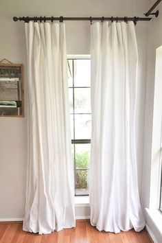 How To Make DIY No Sew Bleached Drop Cloth Curtains   Our Handcrafted Life